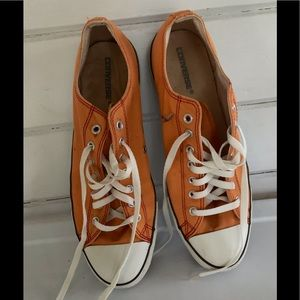 Converse Mens All Stars Orange Laced Sneakers